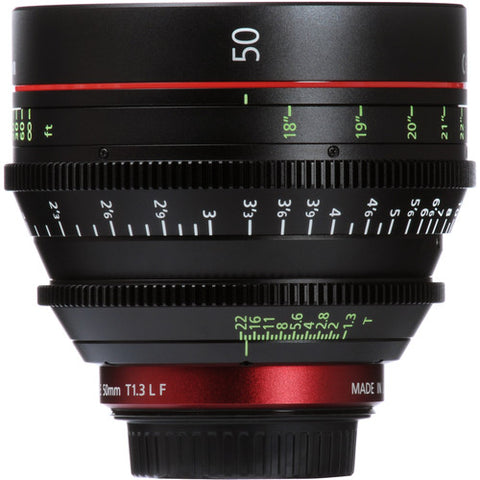 Canon CN-E 50mm T1.3 L F Cine Lens - Canon EF - RENTAL ONLY