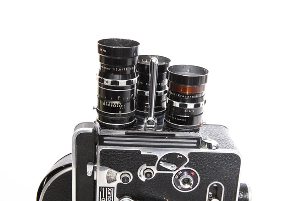 Bolex H16 Reflex with 3 lenses - Rental only