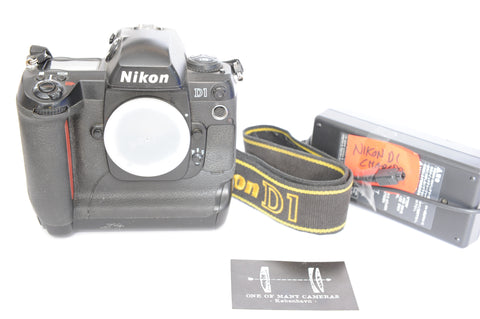 Nikon D1 with charger and strap