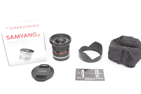 Samyang 12mm f2.0 NCS CS Ultra Wide Angle - Sony E mount