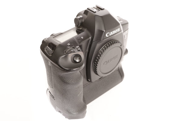 Canon EOS 3 Professional Eye Control Film SLR Camera Body with PB-E2 Power Drive Booster Grip