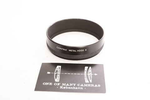 Contax Metal Hood 3 and 55 86 Ring