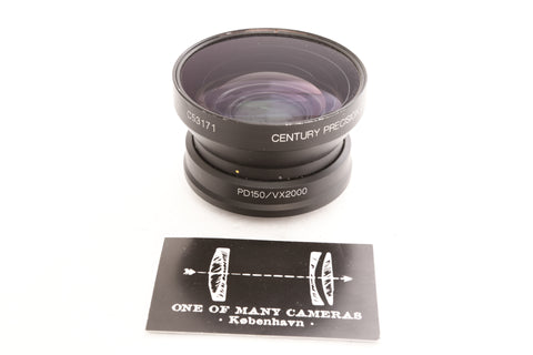 Century Precision Optics .65 Wide Angle Converter for Canon GL1 PD150 VX2000