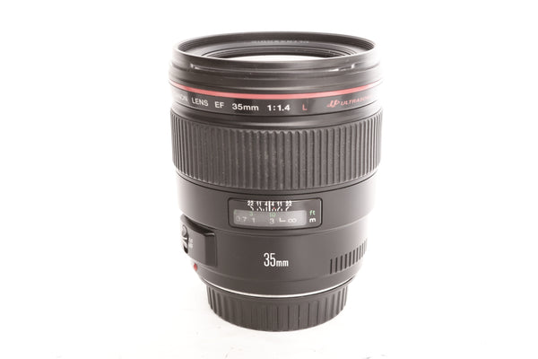 Canon EF 35mm f1.4 L with hood EW-78C