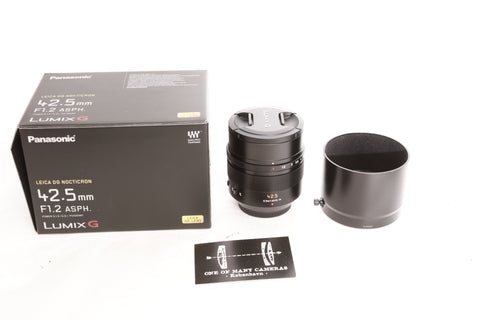Panasonic G 42.5mm f1.2 Leica Nocticron ASPH OIS with box