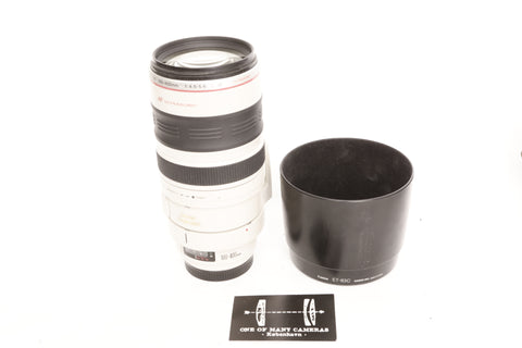 Canon EF 100-400mm f4.5-5.6 L IS with hood ET-83C