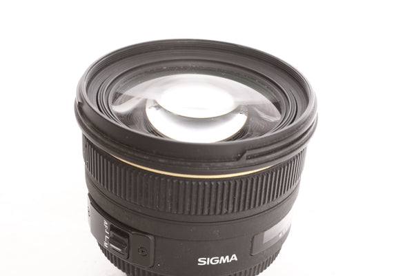 Sigma 50mm f1.4 DG HSM Ex with hood  - Nikon mount