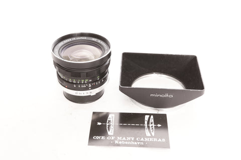 Minolta 28mm f3.5 MC W.Rokkor-SG with Hood