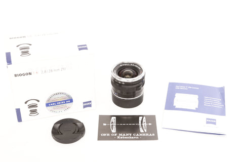 Zeiss ZM 28mm f2.8 Biogon - for Leica M