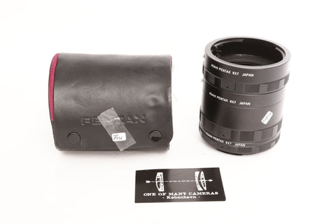 Pentax 67 extension tube set no. 1-2-3 w. case