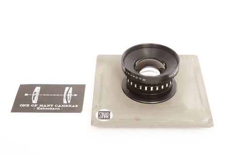 Rodenstock 150m f5.6 Rodagon on Sinar board