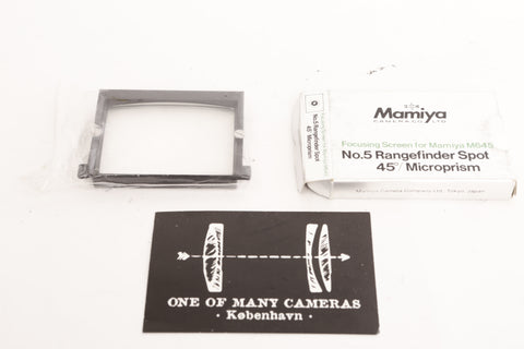 Mamiya M645 No.5 Spot 45/Microprism Focus Screen