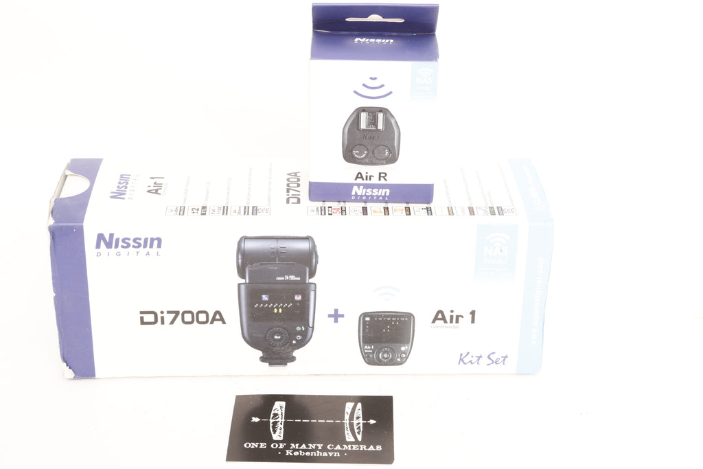 Nissin Di700A Flash Kit with Air 1 Commander for Sony Cameras with Multi Interface Shoe + AIR R Recciver