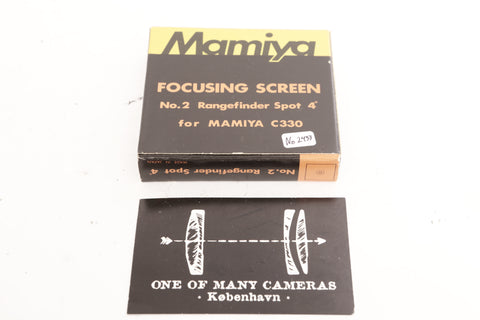 Mamiya Focusing Screen No2 for Mamiya C330