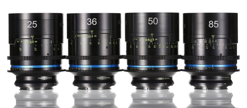 Celere HS set 18.5mm - 24mm - 36mm - 50mm - 85mm T1.5 - EF mount - Rental Only