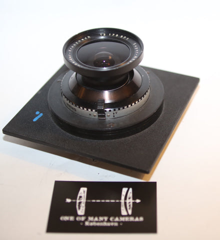 Schneider 90mm f8.0 Super-Angulon on SInar DB Board