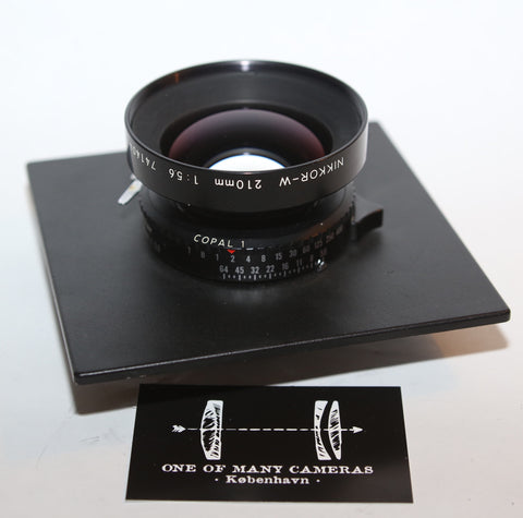 Nikon 210mm f5.6 Nikkor-W in Copal 1 shutter on Sinar board