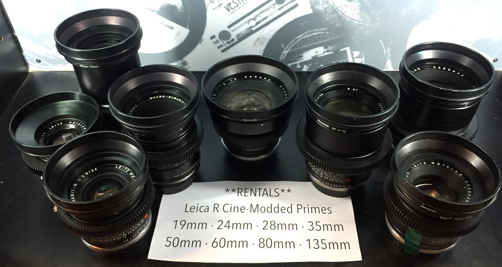 Leica R Cinema Primes Kit - Rental Only