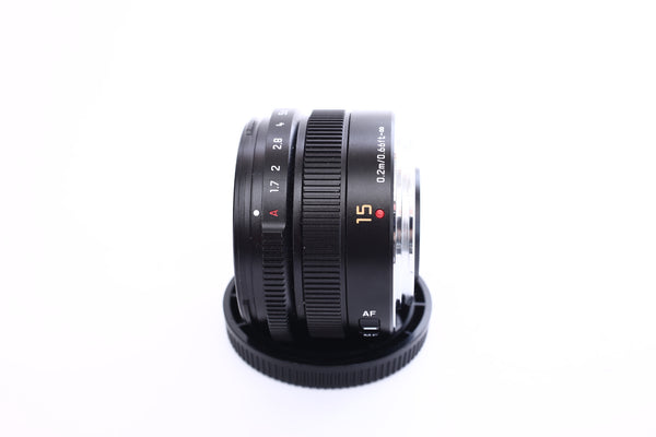 Panasonic 15mm f1.7 Leica DG Summilux Lumix G