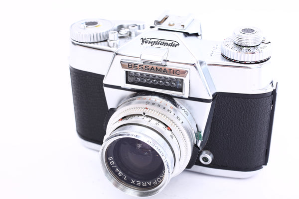Voigtlander Bessamatic with 35mm f3.4 Skoparex
