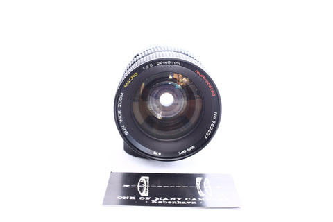 Sun 24-40mm f3.5 Wide Zoom Macro Multi-coated - M42 mount