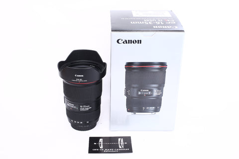 Canon EF 16-35mm f4 L IS USM with hood EW-82