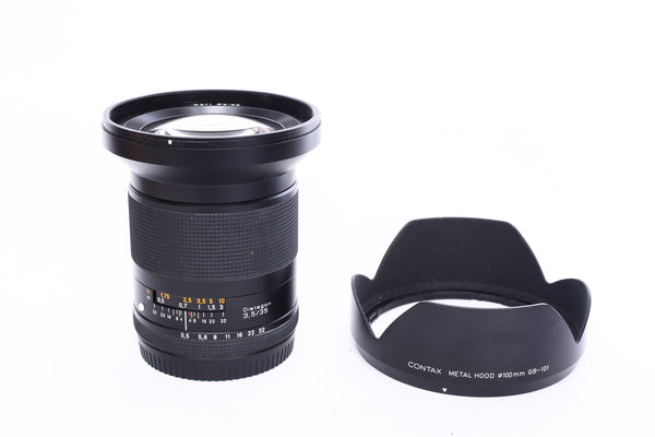 Contax 645 35mm f3.5 Zeiss Distagon with hood GB-101