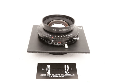 Rodenstock 240mm f5.6 Sironar-S MC in Copal 3 shutter on Sinar board