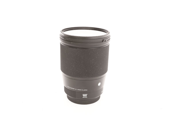 Sigma 16mm f1.4 DC DN with hood LH 716-01 - MFT mount