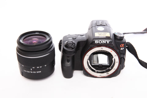 Sony A37 with 18-55mm f3.5-5.6 DT SAM