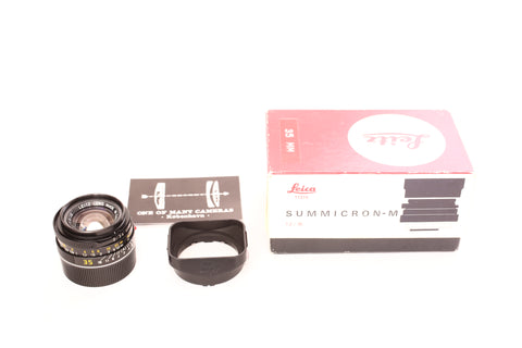 Leica 35mm f2 Summicron-M 11310 Vers 4 - BOKEH KING - with box and lens hood 12524