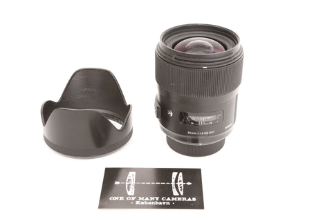 Sigma 35mm f1.4 DG ART for Nikon with hood LH730-03