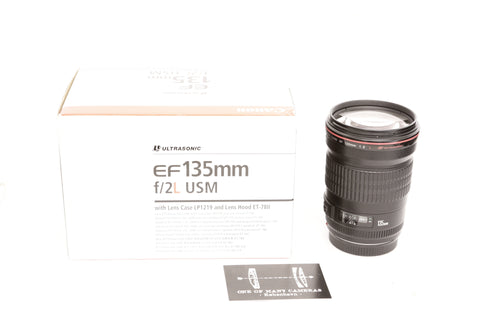 Canon EF 135mm f2 L USM with box