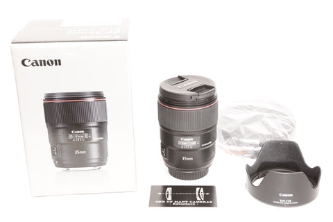 Canon EF 35mm f1.4 L II USM with hood EW-77B - LIKE NEW