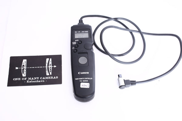 Canon TC-80N3 Timer Remote Switch Shutter Release Cord for Canon Camera 7D 6D 5D III