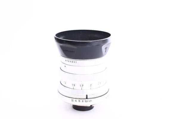 Voigtlander 100mm f4.8 Dynaret for Vitessa with hood