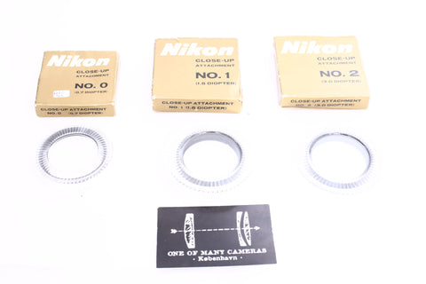 Nikon Close-Up attachment No 0 1 2 diopters