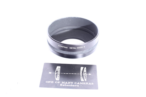 Contax Metal Hood 4 and 55 86 Ring