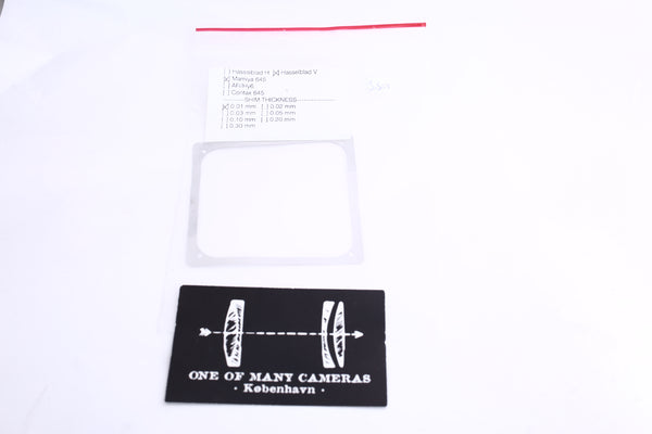 0.01 mm Shim for Hasselblad V and Mamiya 645