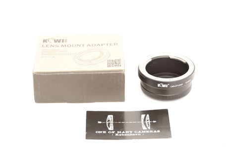 Kiwi Lens mount adapter C/Y->M4/3