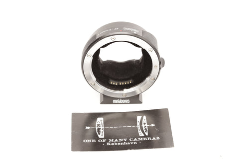 Metabones EF-E mount T smart adapter Mark IV