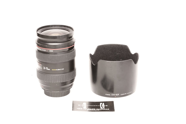Canon EF 24-70mm f2.8 L USM with hood EW-83F