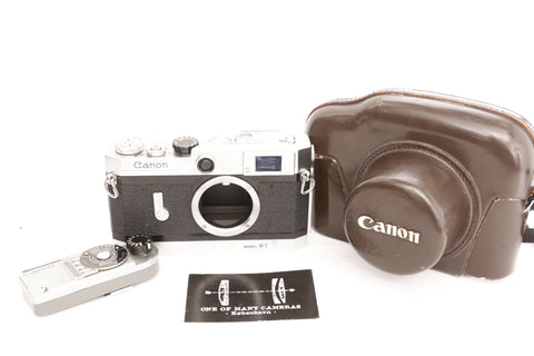 Canon Model VI-T with light meter and case - CL'A APRIL 2019!