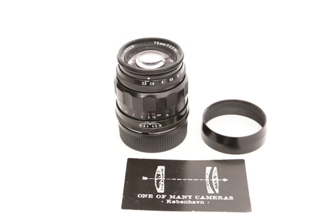 Voigtlander 75mm f/2.5 Color Heliar - Leica Screw Mount
