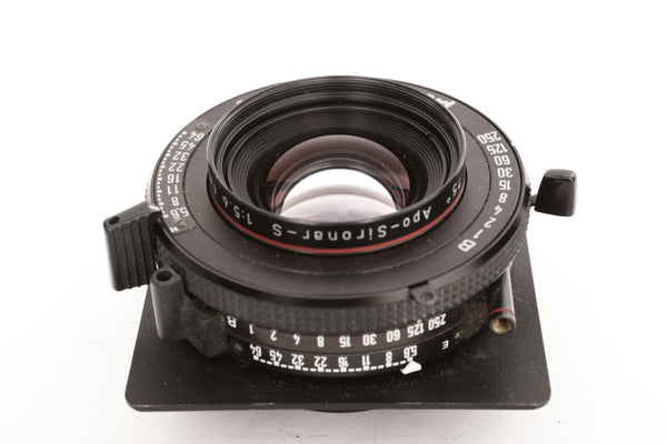 Rodenstock 135 f5.6 Apo-Sironar-S in Pronto 01S Shutter on Horseman board