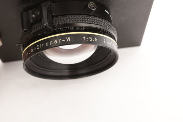 Rodenstock 150m f5.6  Apo-Sironar-W in Prontor S1 Shutter on Sinar board
