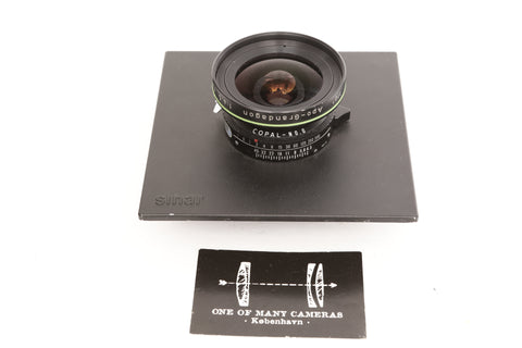 Rodenstock 55mm f4.5 Apo-Grandagon in Copal 0 shutter on Sinar board