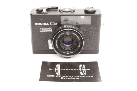 Konica C35 with 38mm f2.8 Hexanon