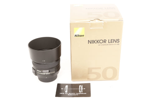 Nikon 50mm f1.4 Nikkor AF-S G with hood HB-47 and box