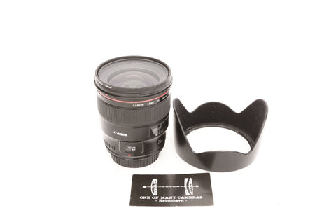 Canon EF 24mm f1.4 L II USM with hood EW-83K